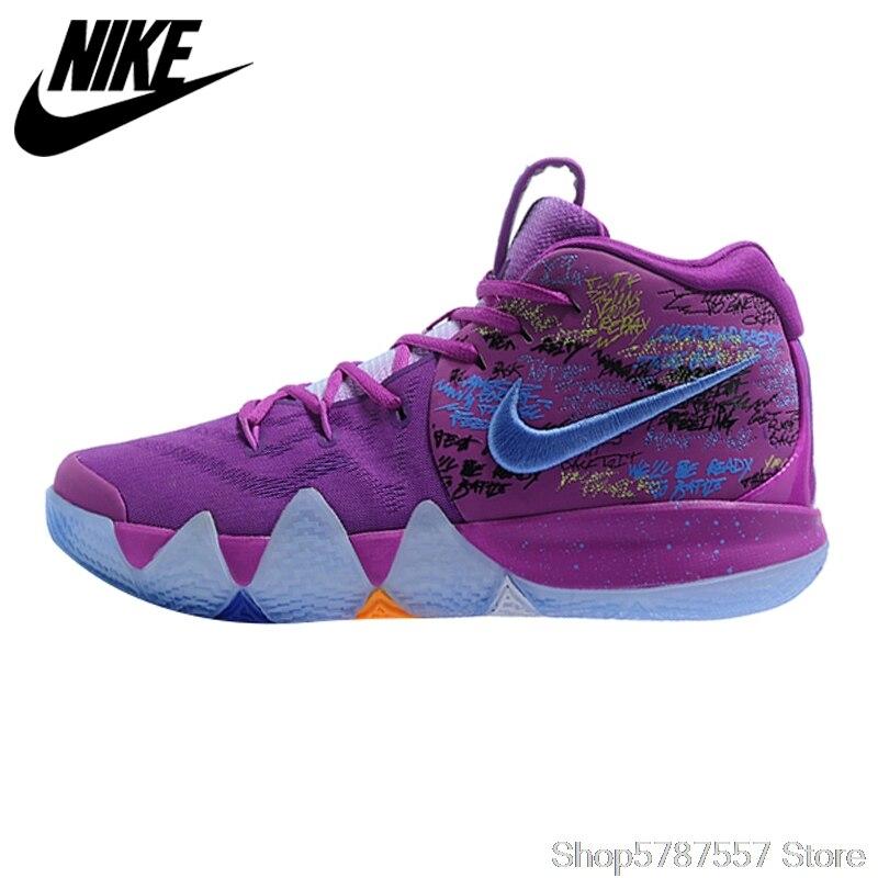 Zapatillas de baloncesto Nike Kyrie 4 Irving 4ª generación confeti para hombre, Morado, resistente al desgaste y a la absorción de golpes