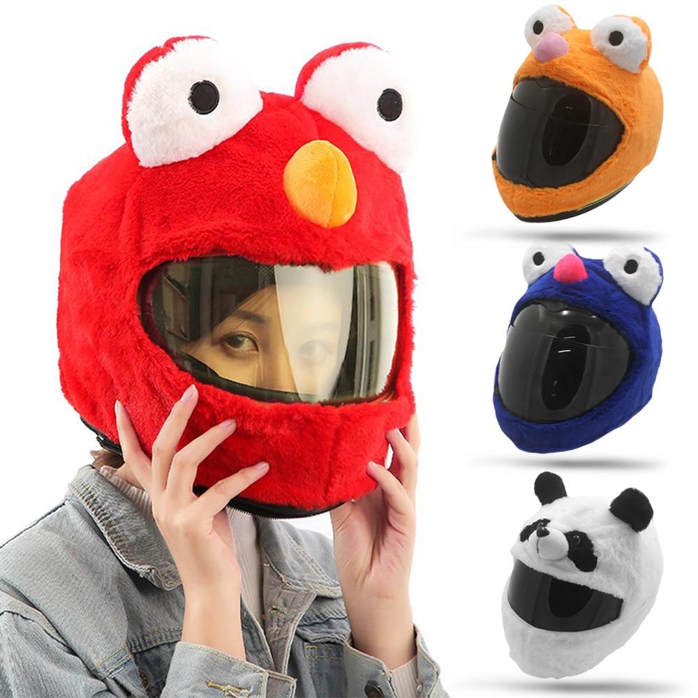 Divertida funda Unisex de rana para casco de motocicleta máscara de Halloween cubierta de cabeza de Animal peludo funda loca disfraz para motocicleta cascos completos