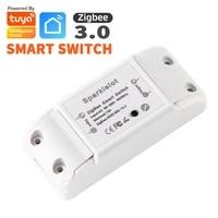 Tuya     interrupteur declairage intelligent Zigbee 3 0  minuterie de disjoncteur universelle  telecommande sans fil  fonctionne avec Alexa Google Home
