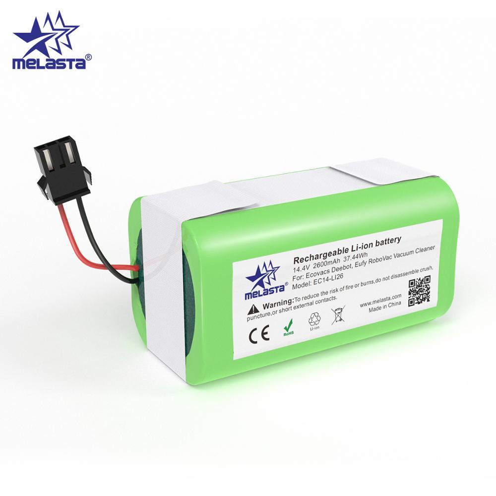 Melasta 14.4V 2600mah Li-ion Battery for Conga Excellence 990/y Ecovacs Deebot N79/N79S/DN622 Eufy Robovac 11/11S/12/15C/30/35C