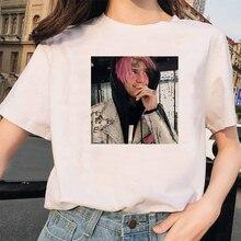 Rappeur Lil Peep T-shirt Rap Hip Hop LilPeep fille T-shirt femmes Harajuku 90s coréen Vintage Tumblr T-shirt graphique T-shirt hauts femme