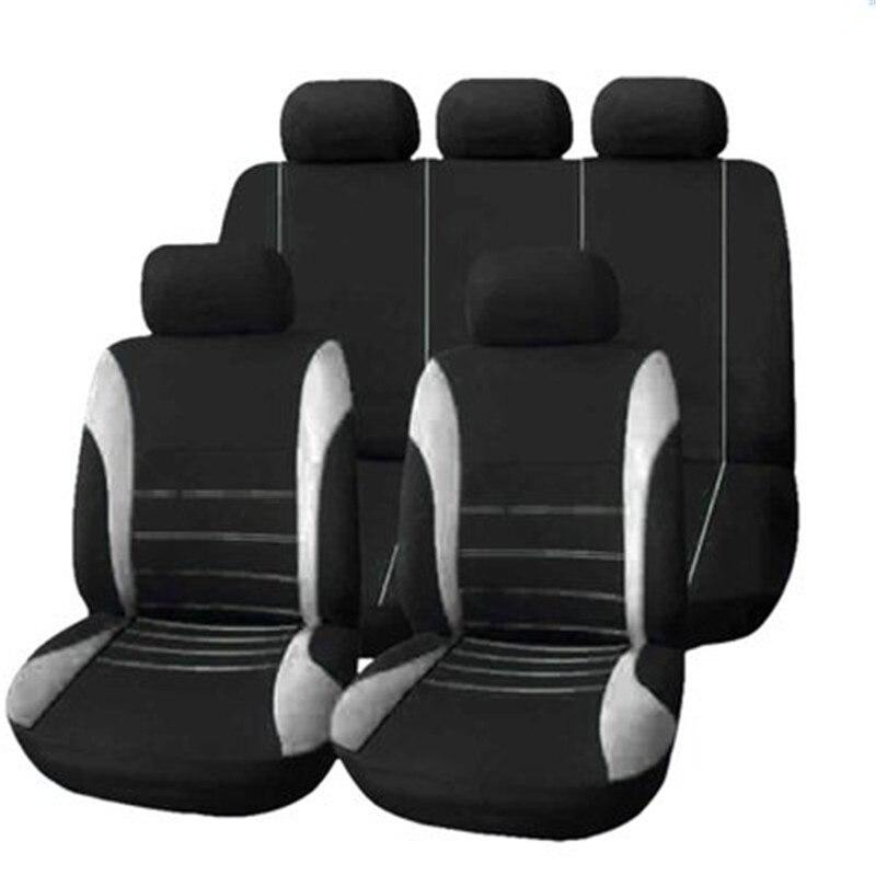 Fundas universales para asientos de automóviles, Fundas protectoras de automóviles, fundas de asiento de automóvil para Lada, Volkswagen, Mazda, Toyota y Kia, Protector de asiento 9 Uds.