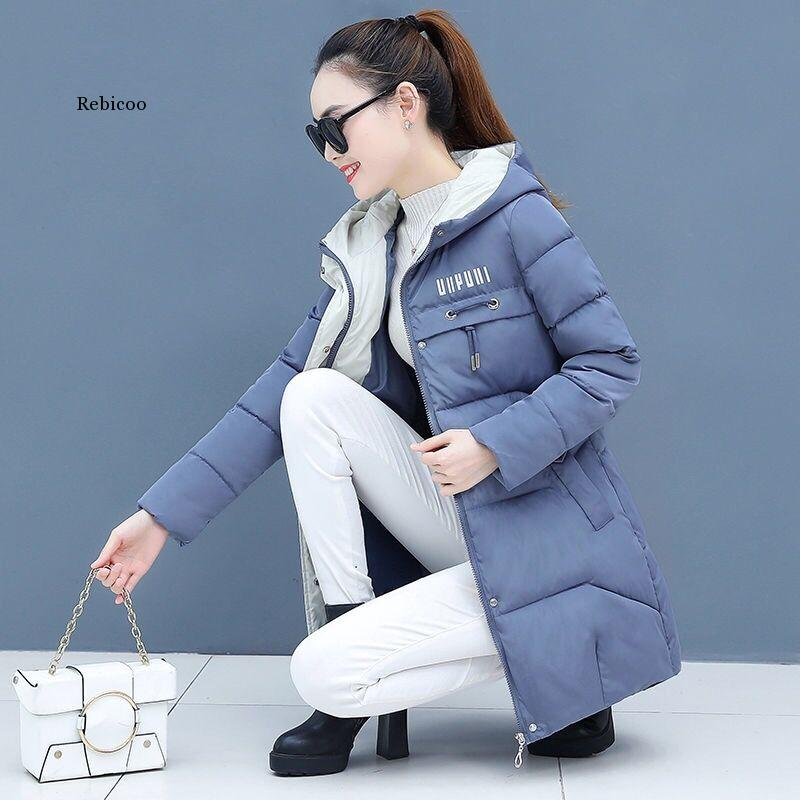 Women Thicken Parkas Hooded 2020 New Winter Coat Women Plus Size S-3Xl Wadded Jacket Long Parka Gilrs Jaqueta Feminina