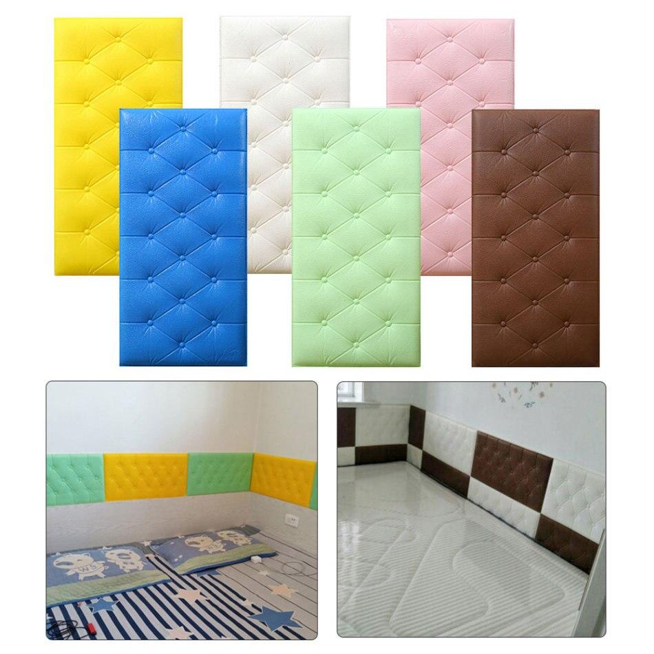 AliExpress - 3D Wall Stickers Wallpaper Self-adhesive Thicken Tatami Anti-collision Wall Mat Pad Kids Bedroom Living Room Soft Foam Cushion