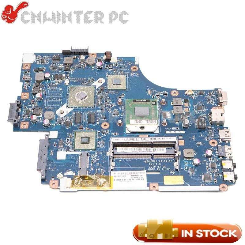 NOKOTION Für Acer aspire 5551G 5552 5552G Laptop Motherboard NEW75 LA-5911P MBWVE02001 MB. WVE02.001 DDR3 HD6470M Freies cpu