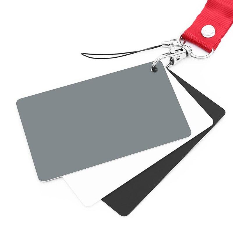Tarjeta gris tarjeta Balance Blanco 18% exposición Fotografía tarjeta calibración personalizada tarjeta gris Cámara Checker Video DSLR