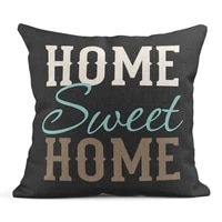 linen throw pillow cover case home sweet home inspirational decorative pillow cases covers home decor square 20x20 inches pillow