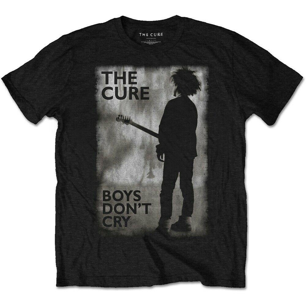 Camiseta negra media para hombre The Cure Boys Dont Cry-Dont para hombre Camiseta Hombre Camisetas cortas