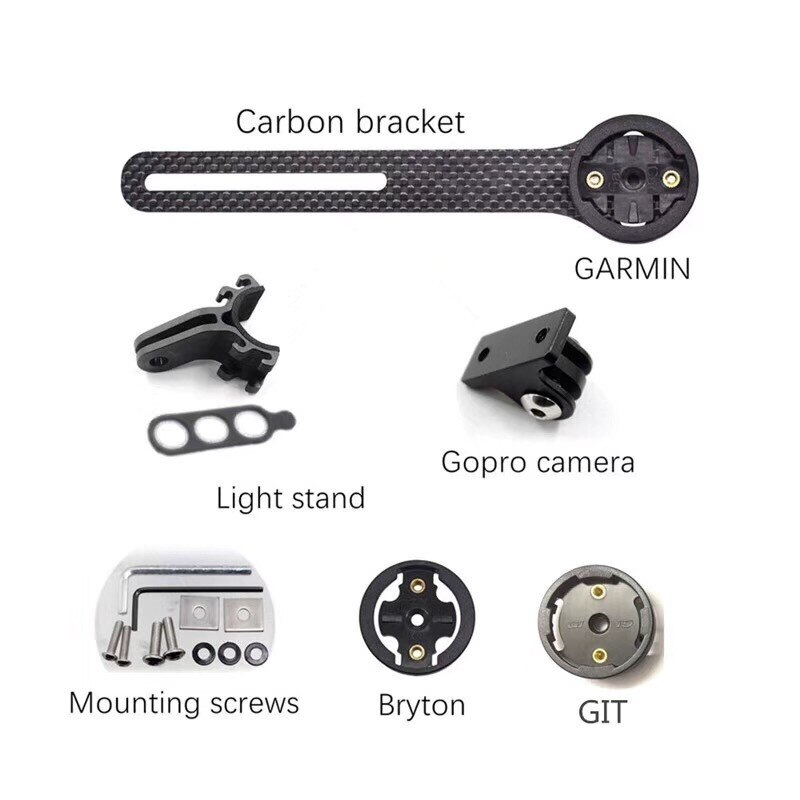 Garmin, bicicleta de carbono, montaje en ordenador, bicicleta de carretera, bicicleta de ciclismo, soporte de montaje de cronómetro para Garmin gopro
