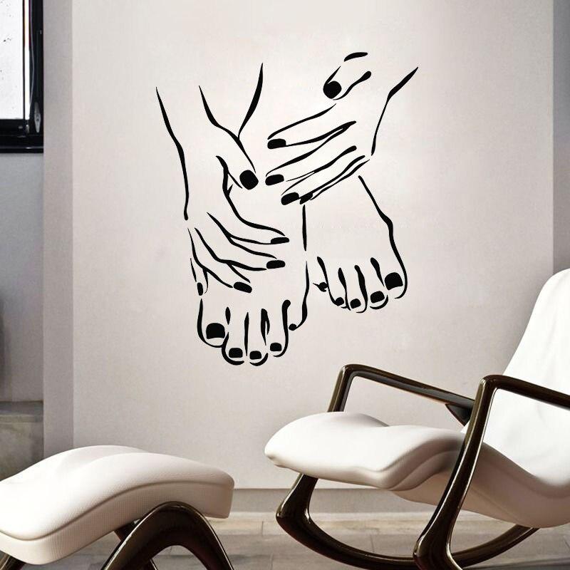 Maquiagem lábios batom adesivo de parede salão de beleza loja de vinil decalques de parede arte mural removível sala de estar quarto decoração cartaz