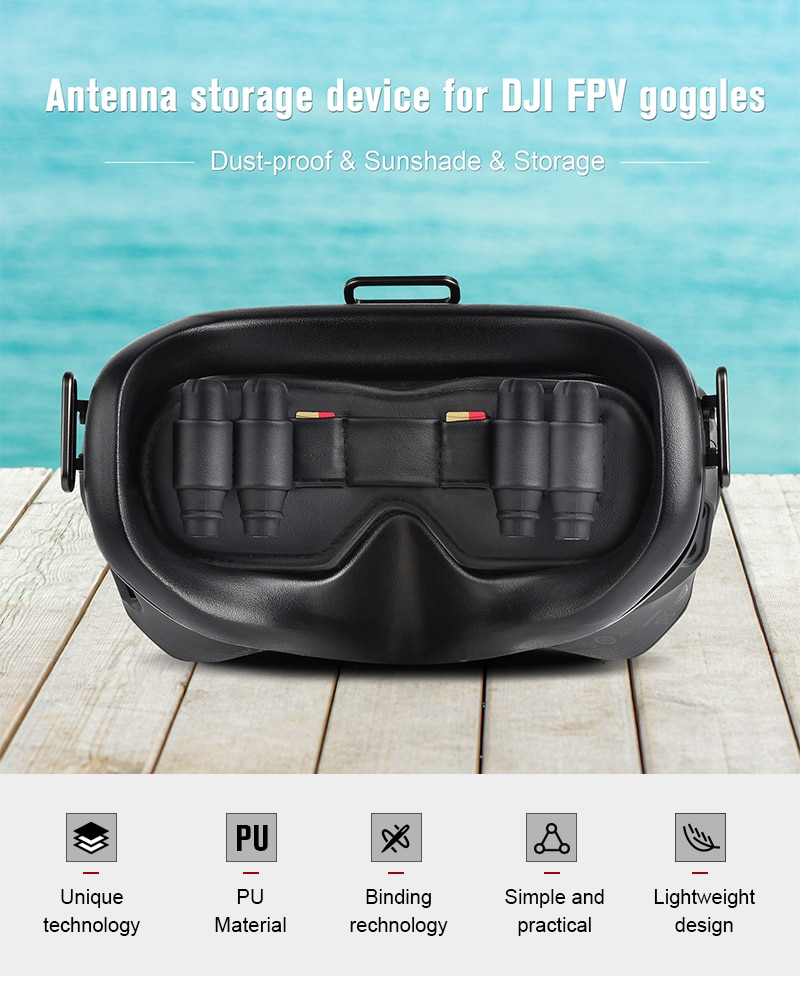 Dustproof Lens Protector for DJI FPV Goggles Antenna Storage Cover Memory Card Slot Holder for DJI FPV VR Glasses Accessories