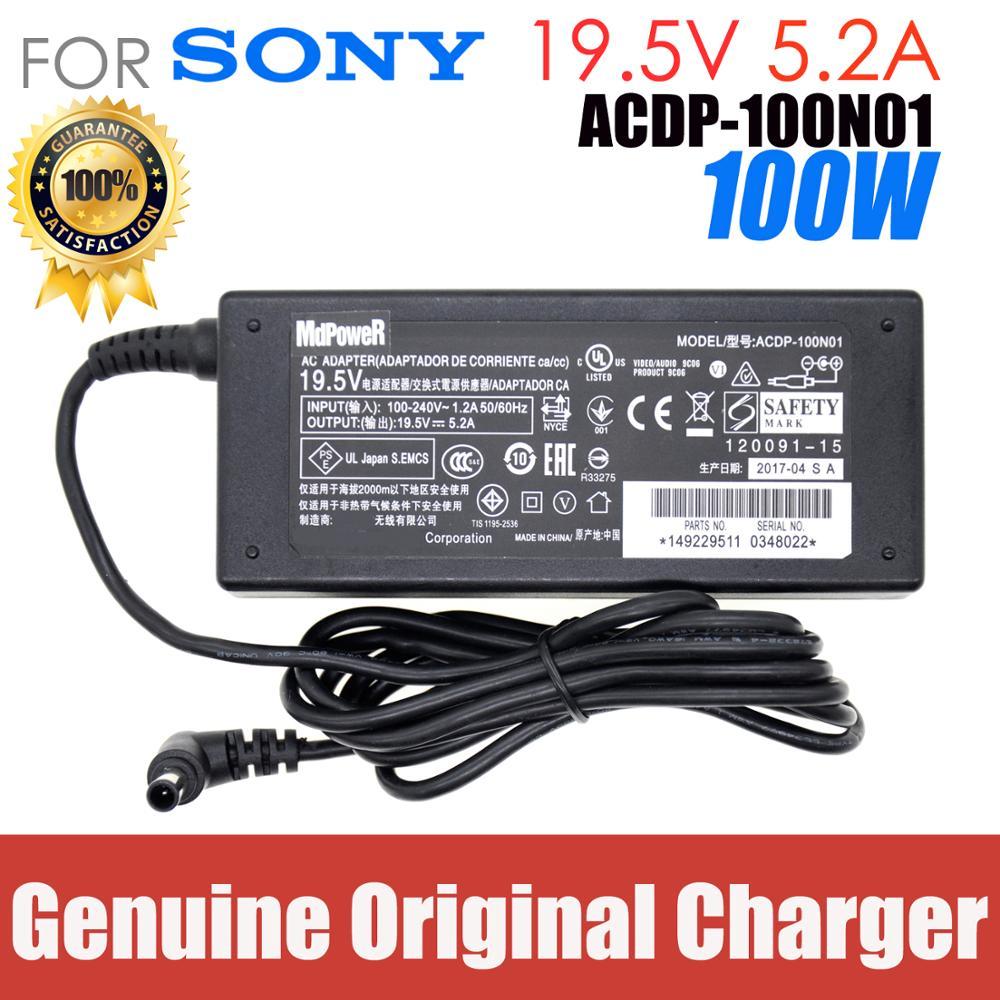 حقيقية ACDP-100D01 19.5V 5.2A 101W التلفزيون AC محول لسوني KDL-43W800C KDL-42W706B KDL-43W809C KDL-43W755C KDL42W706B KDL43W829B