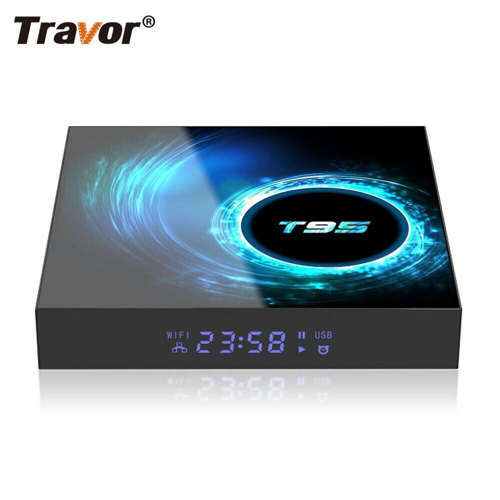 Travor T95 TV Box Android 10,0 Quad Core Dispositivo de tv inteligente 4GB + 16/32/64GB HD 6K HDMI WIFI set-top box reproductor de medios