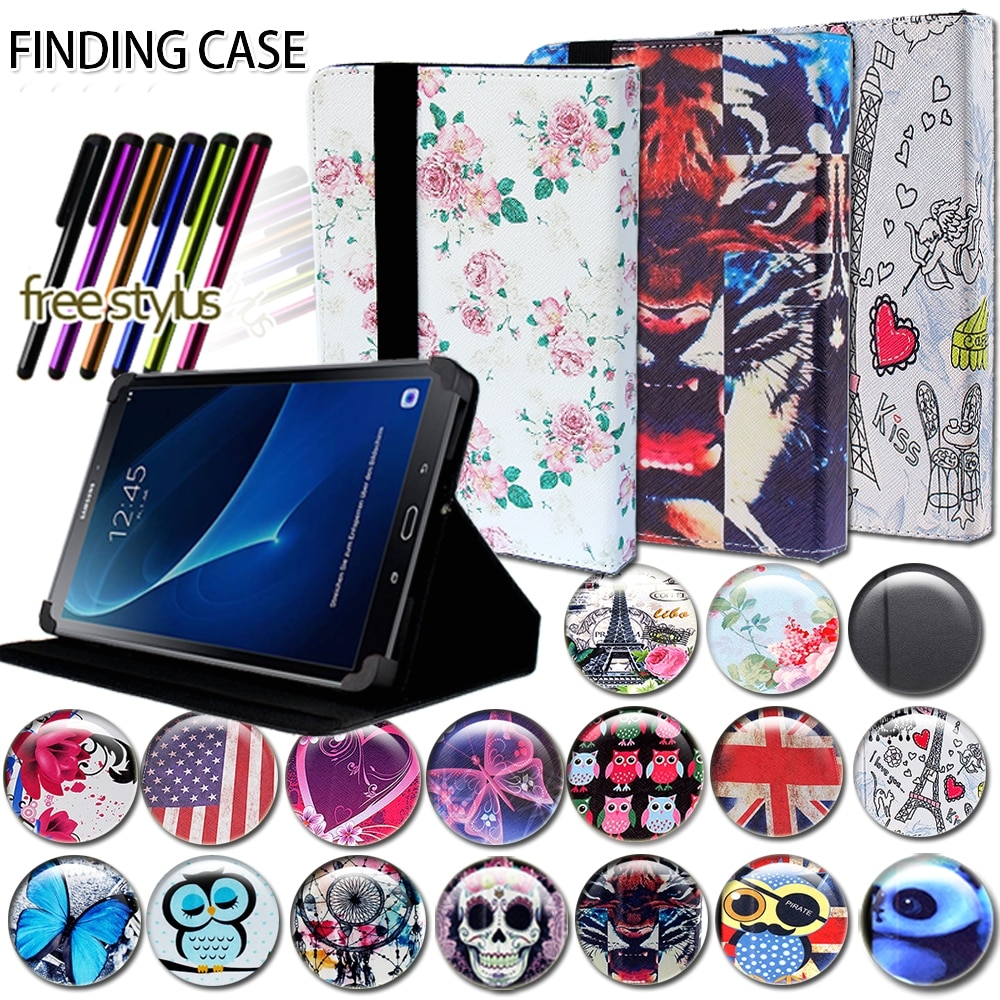 pu leather case for prestigio multipad grace 3201 pmt3201 4g d 10 1 inch tablet folio stand case flim touch pen Shockproof Multicolor Leather Tablet Stand Folio Cover Case for Samsung Galaxy Tab E 9.6/ 7/ 8 Tablet Case + Pen