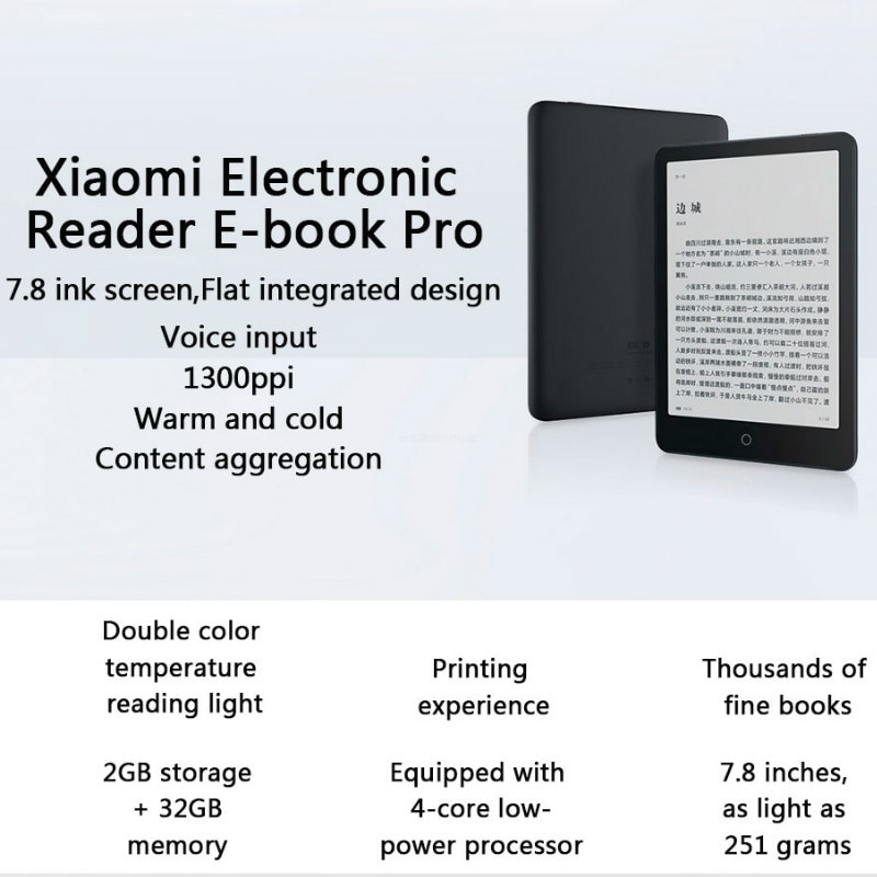 Promo Xiaomi Ebook Reader Pocketbook Pro Electronic Book Android E Book 300 Ppi With 7.8 Inch Touch Screen E-ink Reader Smart Books