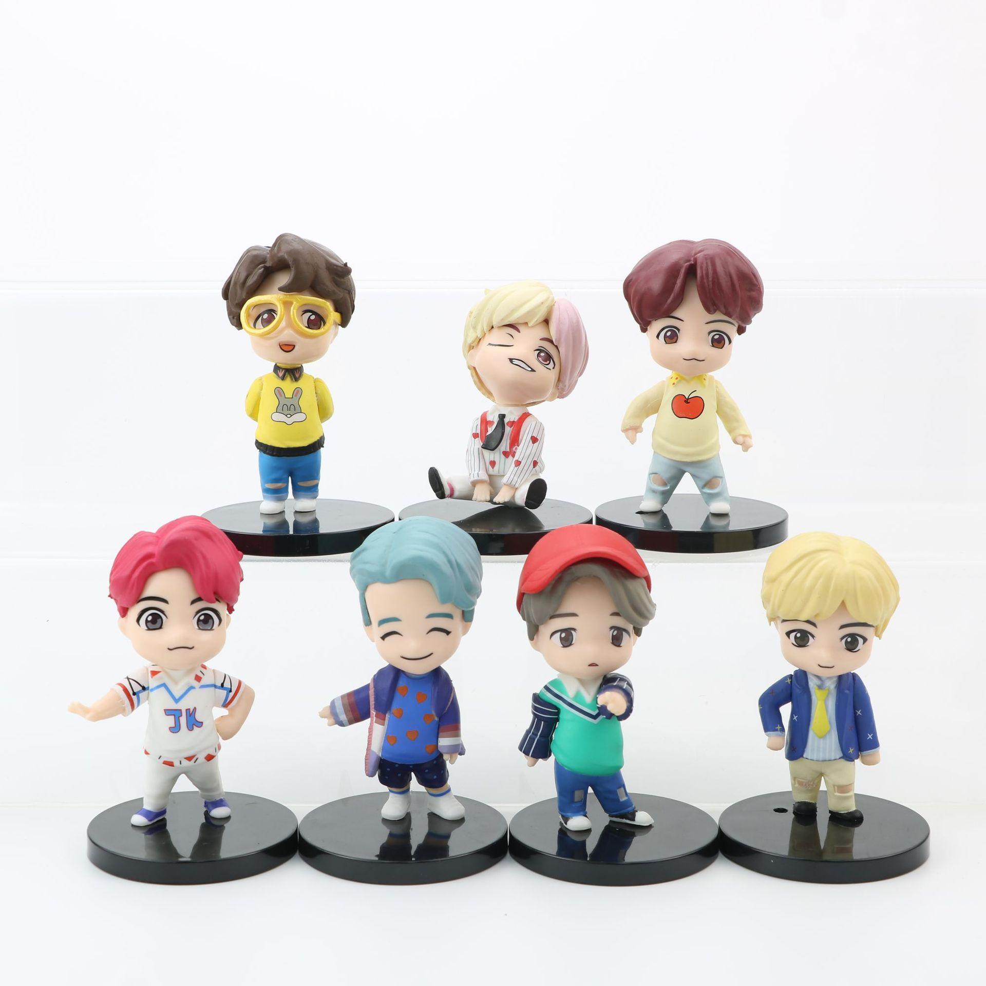 7 шт./лот KPOP Bangtan Boys TinyTAN корейские персонажи группы Jin модели игрушки Фигурки героев Игрушки для девочек игрушки