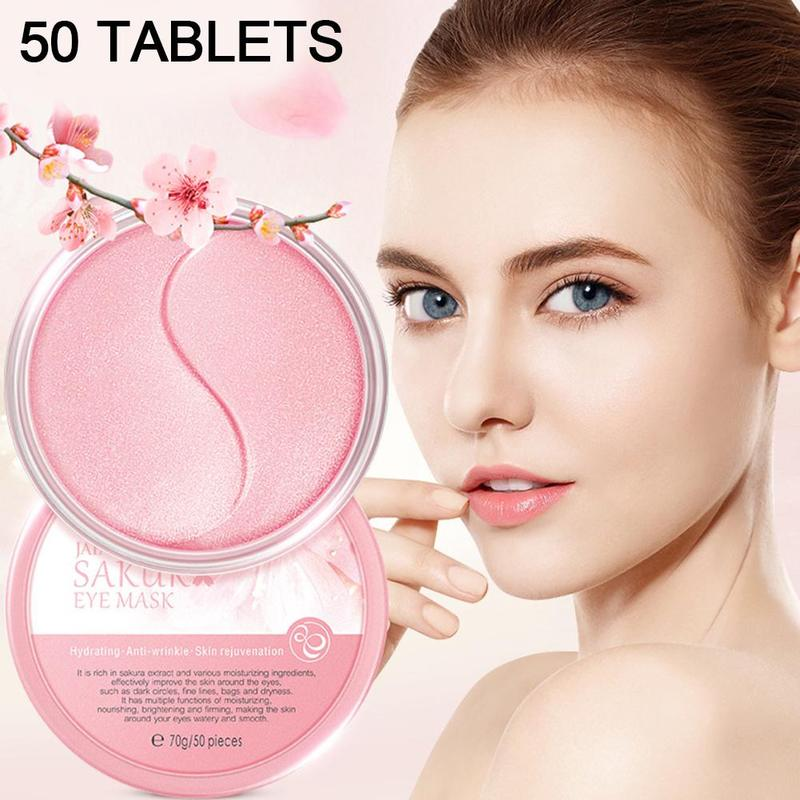 50pcs Sakura Moisturizing Eye Mask Eye Care Moisturizing Firming Anti-aging Soothing Eye Mask