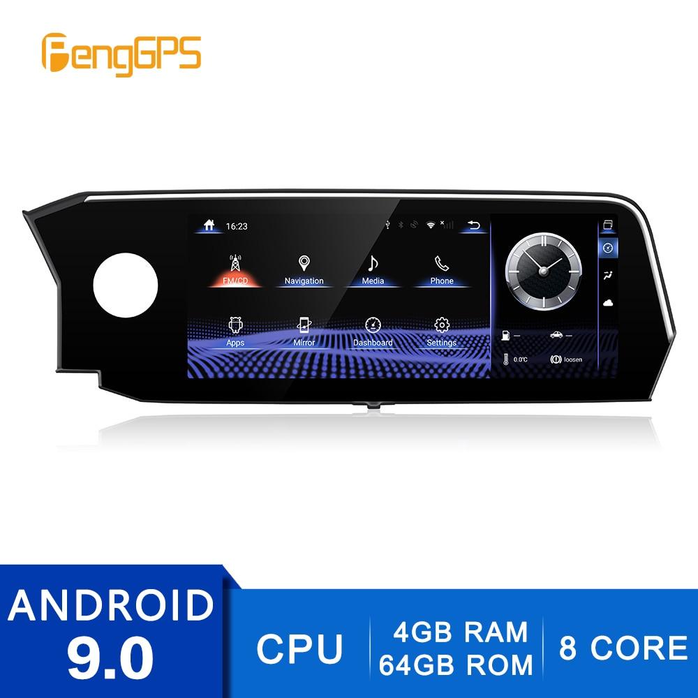 4G + 64G Android 9,0 für Lexus es 2018-2020 GPS Navigation DVD Player Auto Radio Multimedia 2 Din Stereo 8Core 1080P Steuergerät