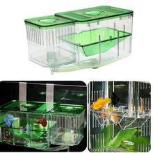 Caja de malla de aislamiento para incubación de mascotas, incubadora de cría de peces, contenedor separado de red para colgar, suministros para acuario, casa de peces