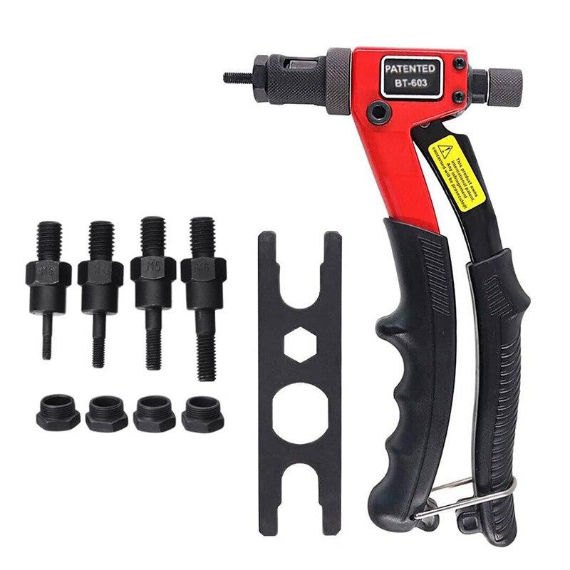 BT-603 Manual Riveter Gun Hand Rivet Tool Kit Rivet Nut Setting Tool Nut Setter M3/M4/M5/M6