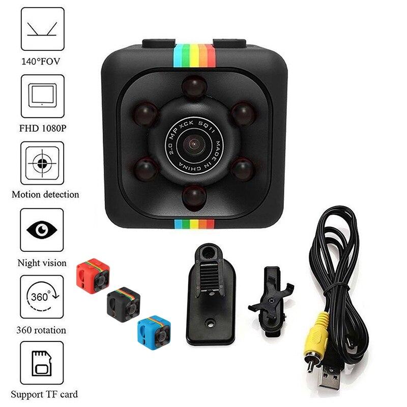 SQ11-Cámara de acción HD 1080P 960P, videocámara de visión nocturna con detección...