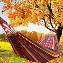 Outdoor Hammock Idyllic Swing Thick Canvas Hanging Sheet Double Leisure Hammock Chair Hammock Swing
