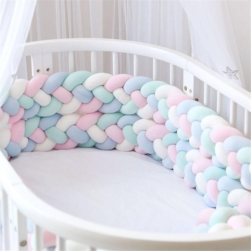 2.2M/3M Baby Bed Bumper Baby Bumper for Boys Girls Baby Cot Bumper Crib Protector cuna para bebe Room Decor enlarge