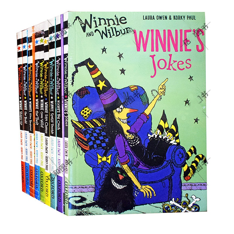 9 books Magic Witch Wilbur English picture Book Children Kids Reading Book Funny Life Interesting Adventure Story English Novel