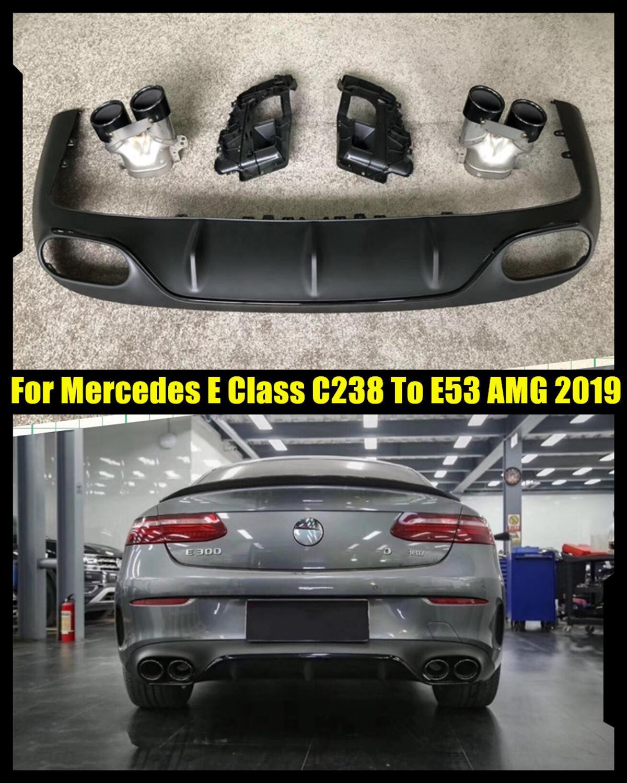Tubos de escape para parachoques trasero de alta calidad Clase E C238 Coupe E200 E300 2 puertas Tunning a E53 AMG 2019