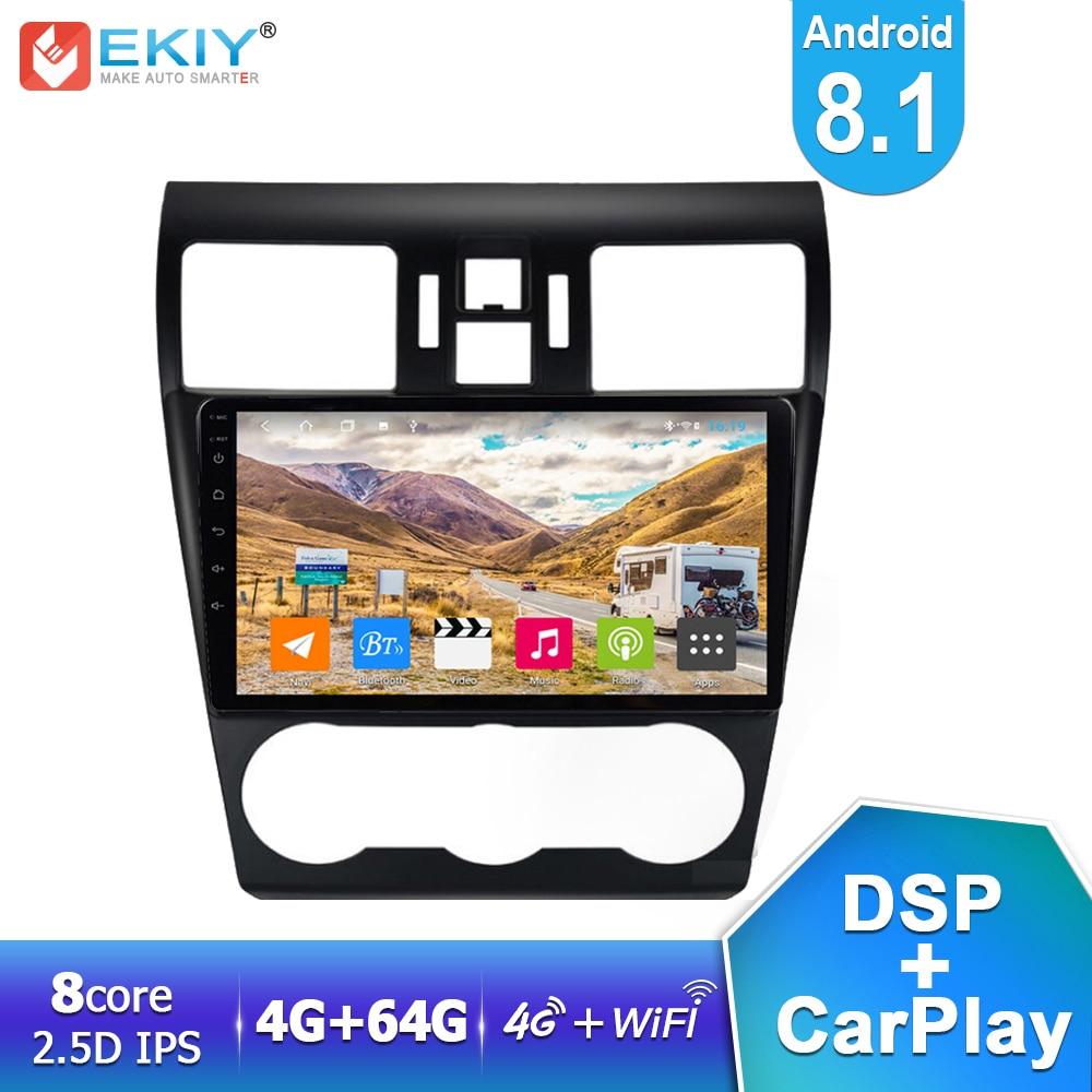 EKIY 9 IPS DSP Auto Radio Multimedia Android 8,1 4G + 64G Für Subaru Forester XV WRX 2012-2018 GPS Navigation Stereo Video Player