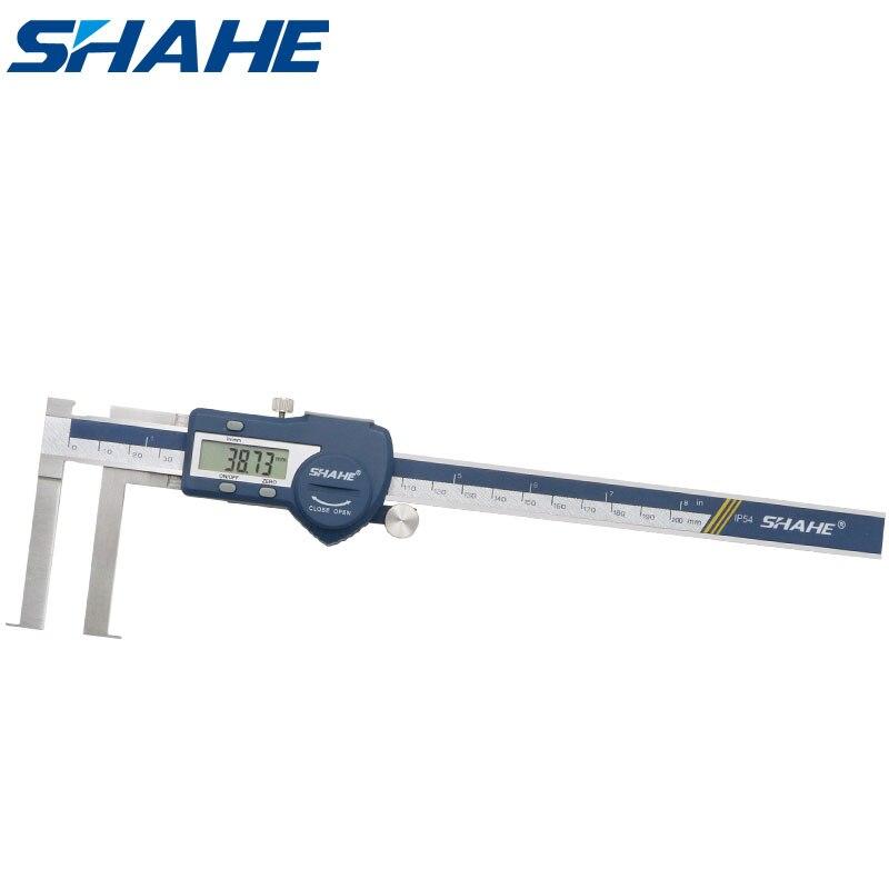 Shahe داخل الرقمية 13-200 مللي متر الرقمية داخل الأخدود الفرجار مع سكين حافة أدوات قياس paquimetro الرقمية