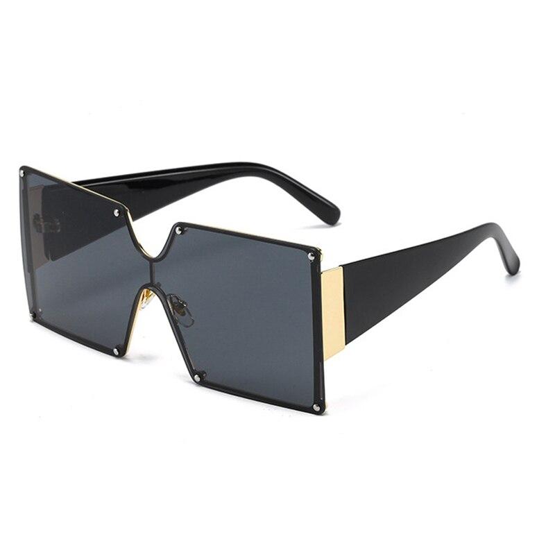 MAXJULI Oversized Sunglasses Metal Frame Square Luxury Brand Designer Women Mirror Sun glasses Men UV Big Shades CS8006