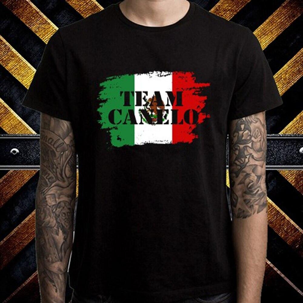 Camiseta negra para hombre, con Logo del equipo SAUL Alves, CANELO Boxing,...