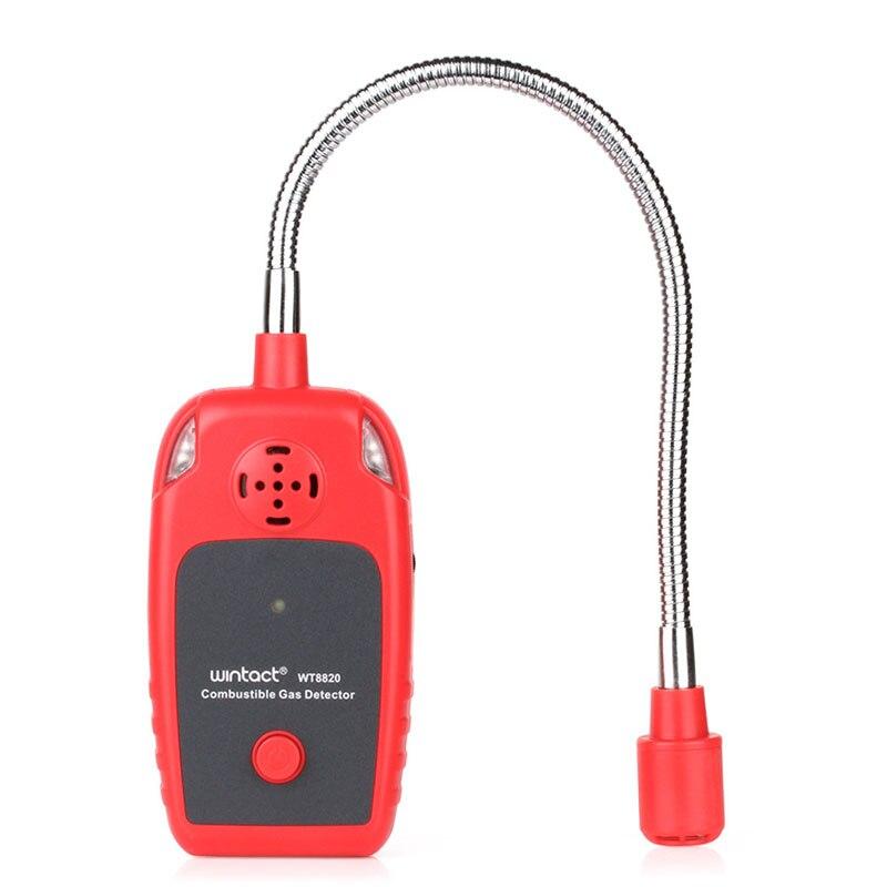 WT8820 analizador de Gas detector de gas Combustible Puerto inflamables fuga de Gas natural ubicación determinar Tester medidor de sonido de alarma Luz