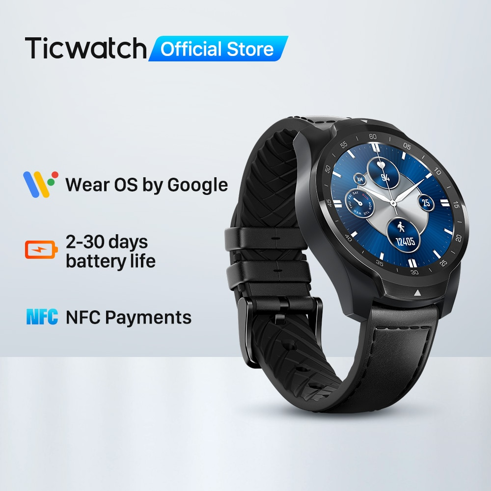 TicWatch Pro S 1GB RAM Smartwatch Dual Display IP68 Waterproof Watches NFC Sleep Tracking 24h Heart