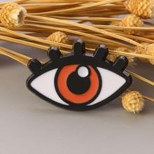 Wholesale 10 Pcs/lot Evil Eye Brooch Denim Enamel Pin Lapel Badge Buckle Shirt Coat Jackets Pin Fashion Gift Amulet Jewelry