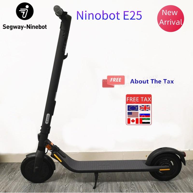 Scooter Eléctrico 2020 Original Ninebot E25 de 25 km/h, neumático a prueba de explosiones de 9 pulgadas, monopatín liviano plegable con aplicación Ninebot