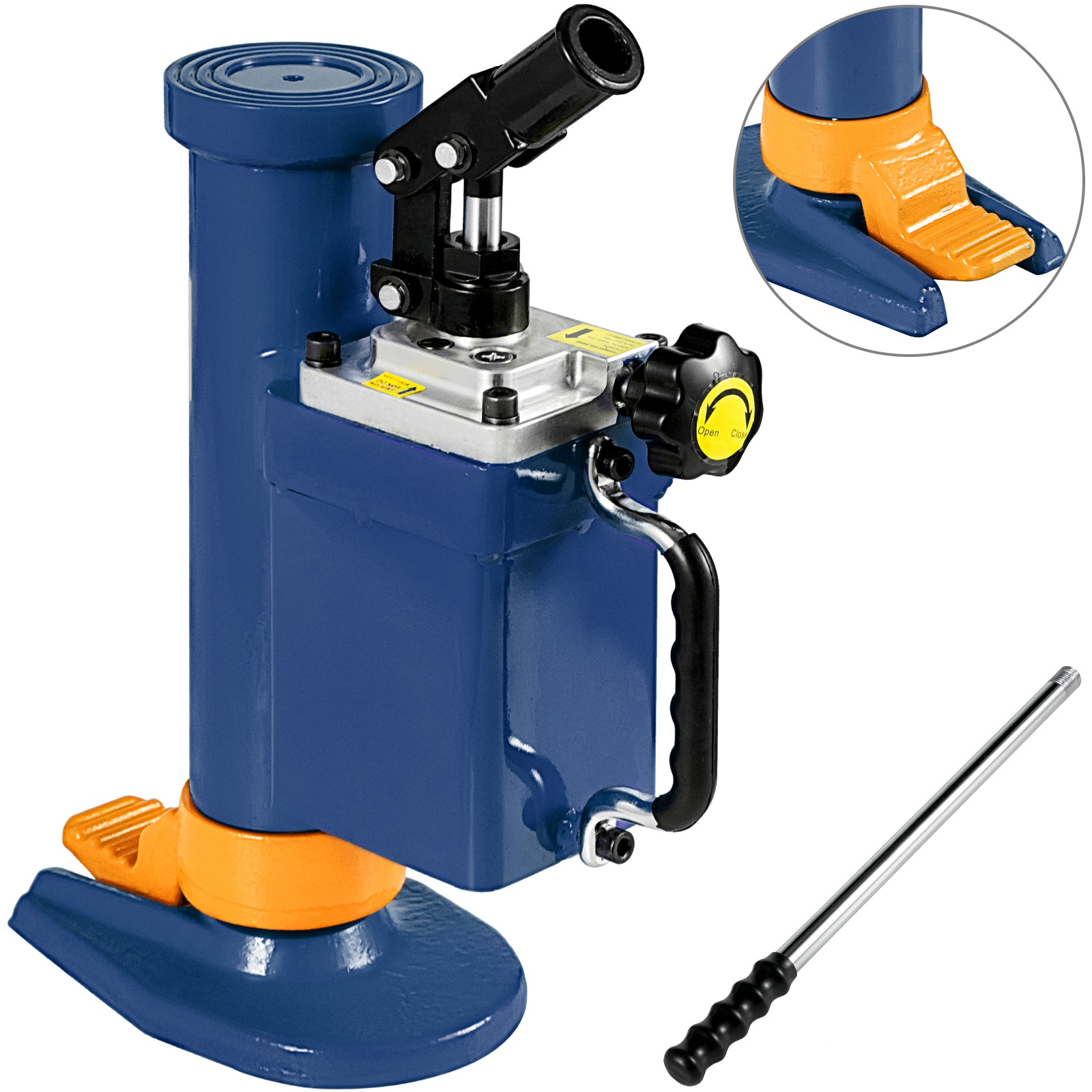 5T Portable Hydraulic Toe Bottle Car Jack Manual Machine With Rotating Shell Lifting Vehicle Mechanical Maintenance Equipment