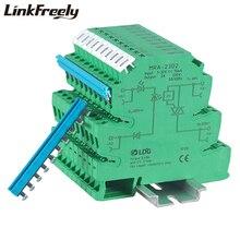 MRA-23D2 10 pcs Nouvelle Mini 2A entrée: 3 v 5 v 12 v 24 v DC SSR Relais Ultra Mince Interface Relais Module Avec Montage Sur Rail DIN