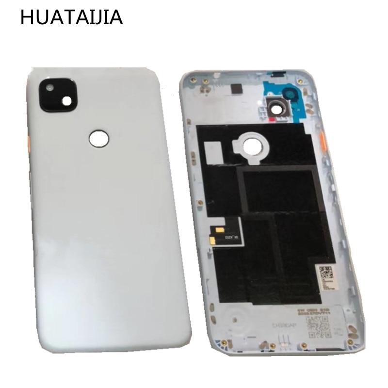 5.81 inch For Google Pixel 4a Original Back CASE Google Pixel 4a middle frame door Rear Housing G025J GA02099 battery case