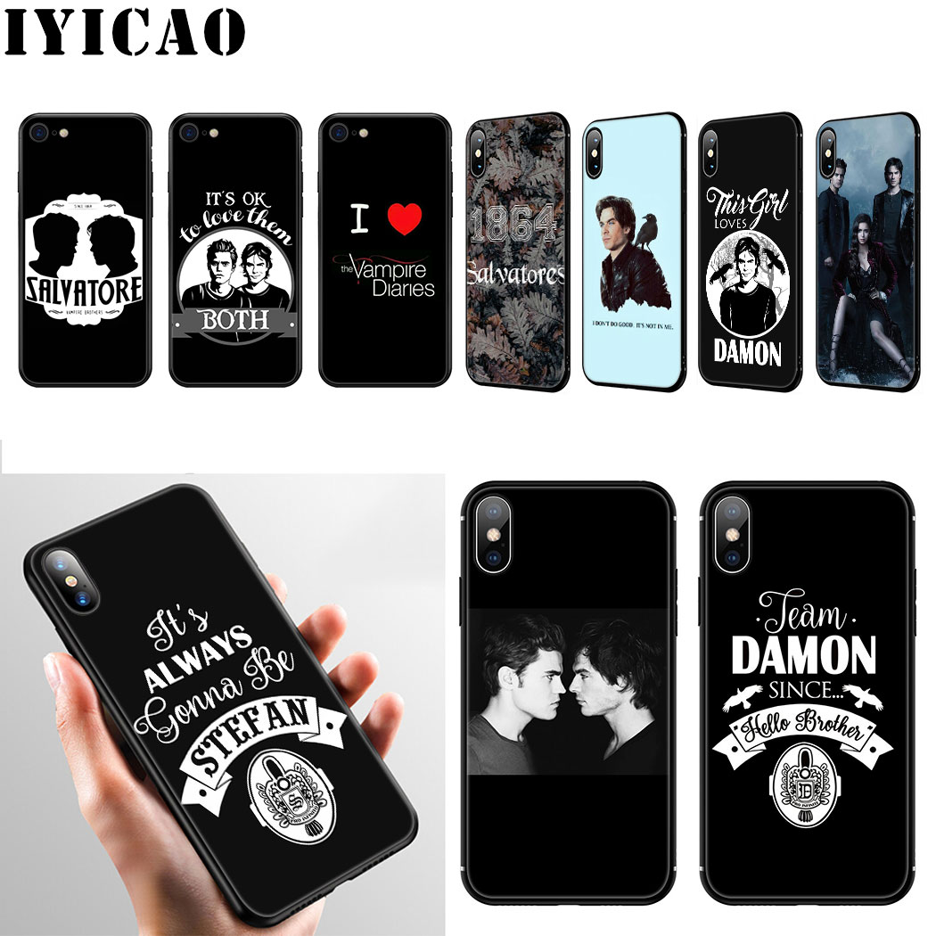 The Vampire Diaries, carcasa de silicona suave de Stefan Damon Salvatore para iPhone 11 Pro Max XR X XS Max 6 6S 7 8 Plus 5 5S SE, funda para teléfono