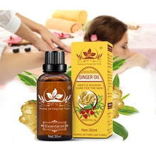 30ml Natural Ginger Oil Lymphatic Drainage Therapy Anti Aging Essential Oil Close Masseter Promote M