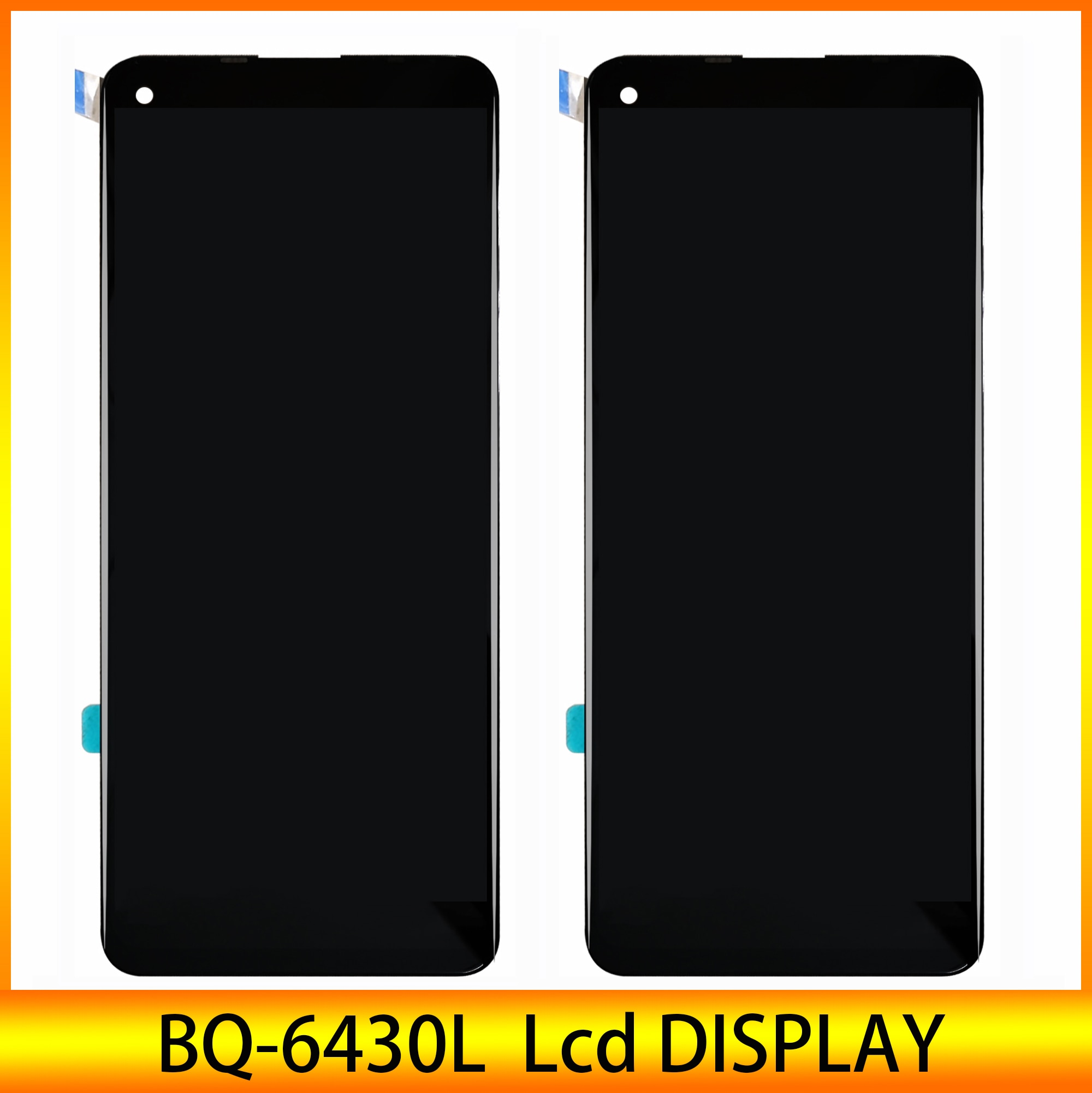 جديد LCD ل BQ المحمول BQ-6430L أورورا bq-6430l LCD عرض مع شاشة تعمل باللمس محول الأرقام الجمعية 100% الكمال إصلاح