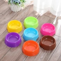 pet bowl for cats and dogs food solid single bowl water container plastic bowl outdoor food dish multiple colour dog supplies