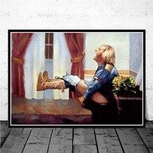 Lienzo pintura al óleo baño Dumb And Dumber película de Jimmy Carrey divertido cartel higiénico impresiones arte pared cuadro decoración quadro cuadros