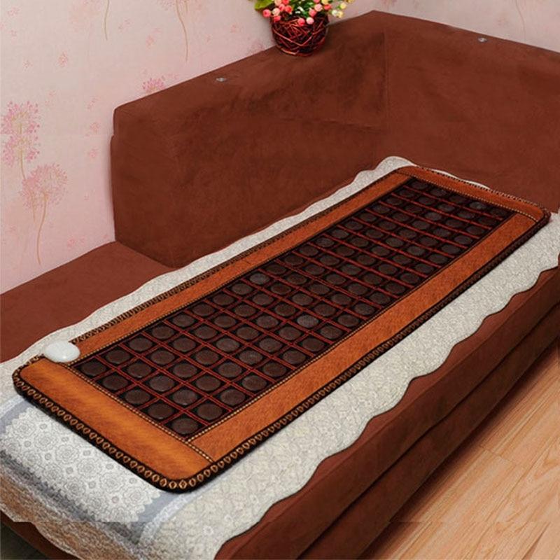 Turmalina calentada infrarroja de gran venta/estera de masaje de piedra de germanio, estera de turmalina de masaje de calefacción para colchones de Corea