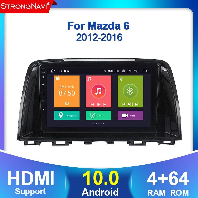 Auto Radio Multimedia 2 din android 10 4 + 64G para Mazda 6 3 Ultra Atenza 3, 2012, 2013, 2014-2017 navegación GPS WIFI BT SWC carplay