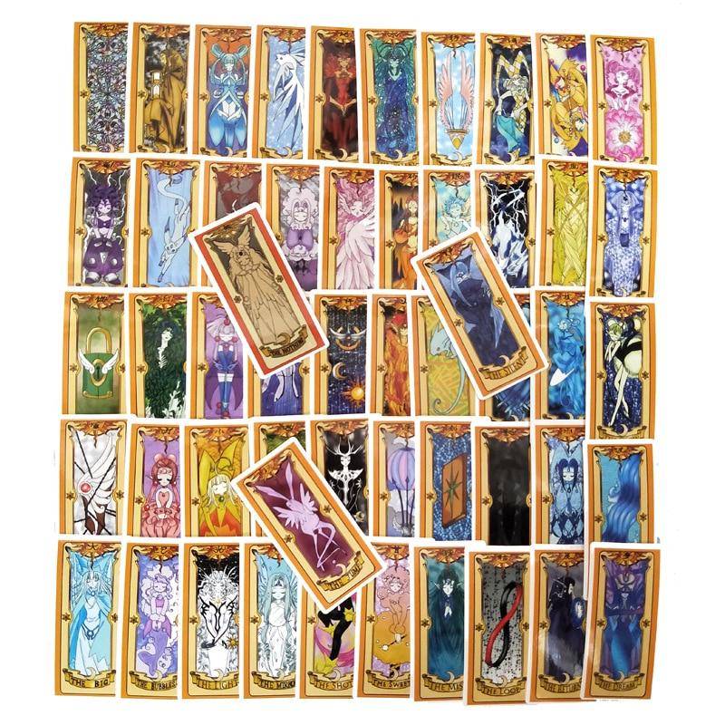Pegatinas para coche de Captor Sakura, 53 Uds. De pegatinas máhou Clow mágicas para teléfono portátil DIY, accesorios de juego de anime, accesorios de juego de tarjetas Stikcers
