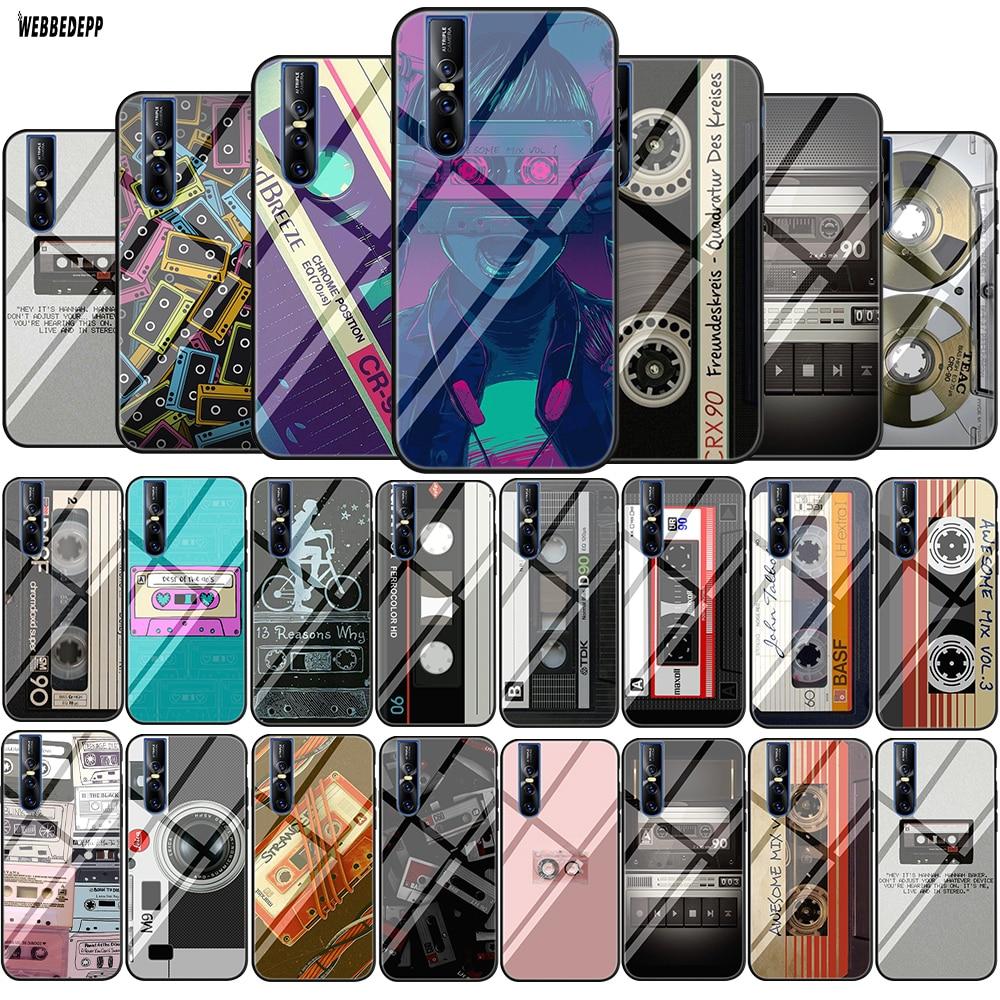 Funda blanda de vidrio templado de cinta de casete Retro Original Lavaza para Vivo V9 V15 Y15 Y17 Y85 Y89 Y91 Y91C Y93 y95 cubierta de silicona