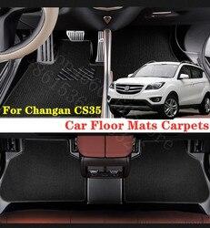 Puou para changan cs35 cs55 tapetes do assoalho carro dianteiro & traseiro conjunto completo personalizado auto almofadas pé automóvel à prova dwaterproof água tapete cobrir